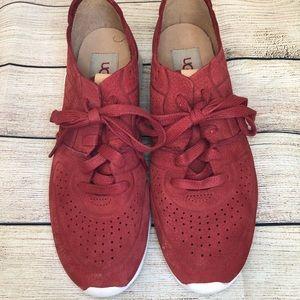 UGG Chili Pepper Tye Leather Sneaker